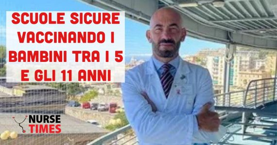 """Bassetti:""""Scuole in sicurezza vaccinando bambini tra i 5 e gli 11 anni"""""""