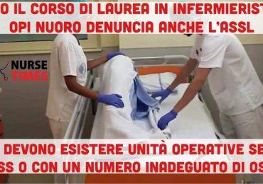 """OPI Nuoro denuncia l'ASSL:""""Basta demansionare gli infermieri, OSS in ogni reparto 24 ore al giorno in numero adeguato"""""""