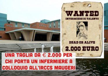 Porta all'IRCCS Maugeri un infermiere: riceverai subito 2.000 euro in premio