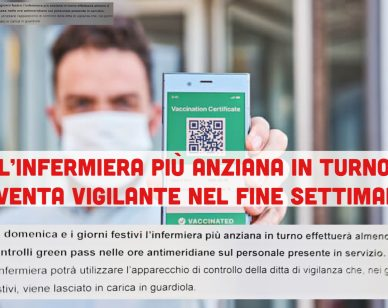 Villa S. Marco: l'infermiera più anziana sostituisce il vigilantes nei weekend e controlla i green pass 1
